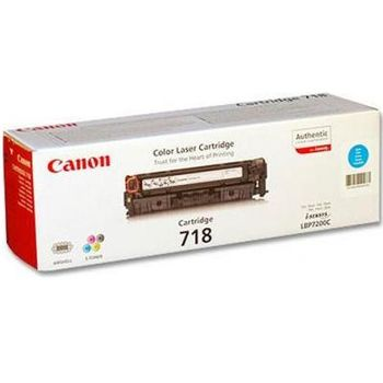 Cartridge Canon 718, Cyan (2900 pages) for LBP-7200Cdn, MF8540Cdn/8330Cdn/8350Cdn