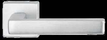 Дверная ручка на розетке Acapulco матовое серебро + накладка под цилиндр
