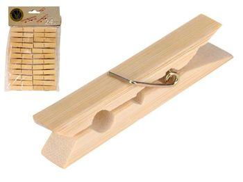 Набор прищепок 24шт, бамбук