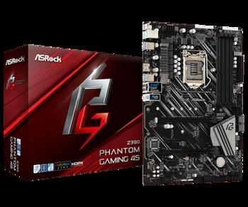 MB ASRock Z390 PHANTOM GAMING 4S ATX //  CPU