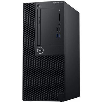 DELL OptiPlex 3060 MT lnteI® Core® i3-8100 +W10Pro (Quad Core, 3.60GHz, 6MB), 8GB DDR4 RAM, 1TB HDD, DVD-RW, lnteI® UHD630 Graphics, TPM, 260W PSU, USB mouse, USB KB216-B, Win 10 Pro, Black
