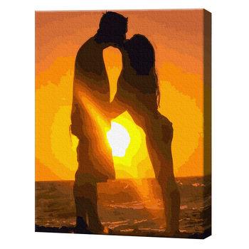 GX4834 Поцелуй на закате Картина по номерам 40х50 см