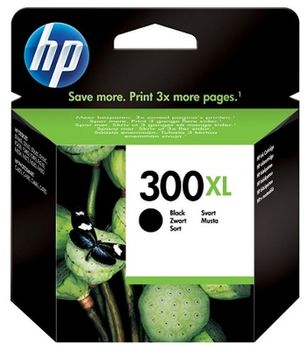 HP No.300XL Black Inkjet Print Cartridge, with Vivera Ink, 12ml (600pages), DESKJET- D1660, D2560, D2660, D5560, F2420, F2480, F2492, F4210, F4224, F4272, F4280, F4580, PHOTOSMART- C4670, C4680, C4685, C4780