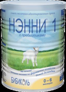 Молочная смесь на основе козьего молока Нэнни 1 с пребиотиками, 400г