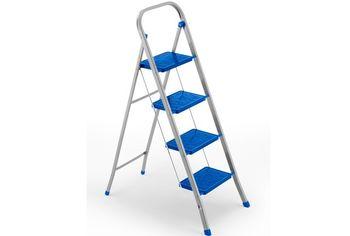 Scara plianta Framar Slimmy-4 (h93/313cm), 150kg, rosie/albastra