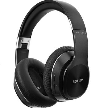 Edifier W820BT Black / Bluetooth and Wired On-ear headphones with microphone, BT Type 4.1, 3.5 mm jack, Dynamic driver 40 mm, Frequency response 20 Hz-20 kHz, On-ear controls, Ergonomic Fit, Battery Lifetime (up to) 80 hr, charging time 4 hr
