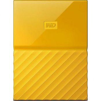 "2.5"" External HDD 2.0TB (USB3.0)  Western Digital ""My Passport"", Yellow, Durable design"
