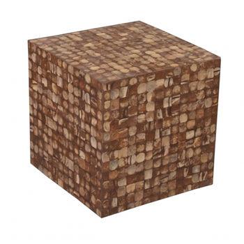 купить Стул - куб 420x420x420 мм, коричневый в Кишинёве
