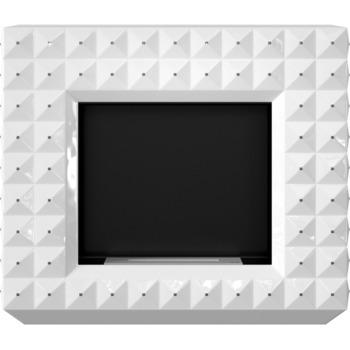 Биокамин - EGZUL белый глянцевый с кристаллами Swarovski напольный