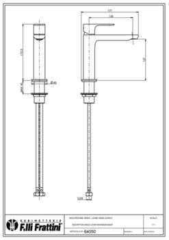 Смеситель для раковины Fratelli Frattini LEA 64050
