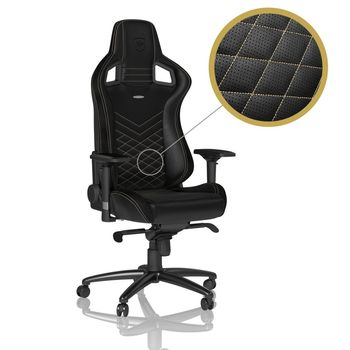 Gaming Chair Noble Epic NBL-PU-GOL-002 Black/Gold