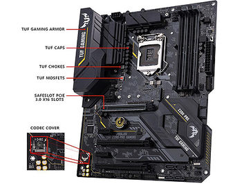 Материнская плата ASUS TUF Z390-PRO GAMING Intel Z390, LGA1151, Dual DDR4 4266MHz, 3xPCI-E 3.0/2.0 x16,HDMI/DP, AMD Quad-GPU CrossFireX&NVIDIA 2-Way SLI, USB3.1, SATA RAID 6Gb/s, 2 x M.2 x4 Socket, Intel Optane memory ready, SB 8-Ch., GigabitLAN, LED lighting