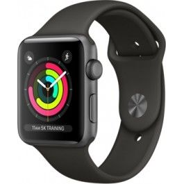 купить Apple Watch Series 3, 42mm, Space Grey Aluminium Case, Sport Band MR362, Grey в Кишинёве
