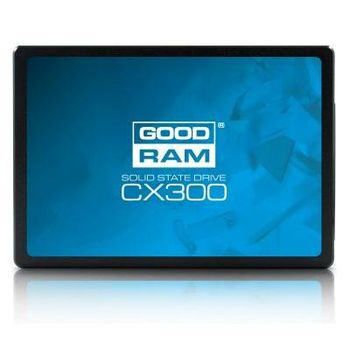 "2.5"" SSD 480GB  GOODRAM CX300, SATAIII, Sequential Reads: 555 MB/s, Sequential Writes: 540 MB/s, Maximum Random 4k: Read: 88,000 IOPS / Write: 83,000 IOPS, Thickness- 7mm, Controller Phison S11, NAND TLC"