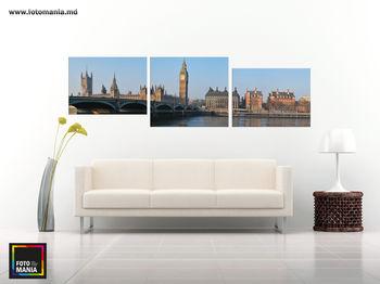 Картина на холсте - Триптих  Лондон 0001