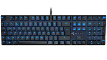 ROCCAT Suora / Frameless Mechanical Gaming Keyboard, Mechanical keys, Advanced anti-ghosting, 6 Macro keys, Blue key back-lighting (11-level brightness), Game mode button, USB, Black