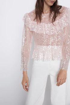 Блуза ZARA Розовый 9598/135/620