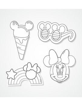 НАБОР ИЗ 4 МАГНИТОВ Colorino Disney Minnie Mouse