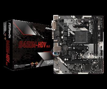 MB ASRock B450M-HDV R4.0 mATX