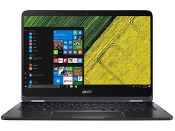 """ACER Spin 7 Shale Black (NX.GKPEU.002) 2-in-1 Tablet PC 360°, 14.0"""" TOUCH FullHD (Intel® Core™ i7-7Y75 1.30-3.60GHz (Kaby Lake), 8Gb DDR3 RAM, 256Gb SSD, Intel® HD Graphics 615, WiFi-AC/BT4.0, 4cell, HD webcam, RUS, W10HE64, 1.6kg, 10.98mm)"""