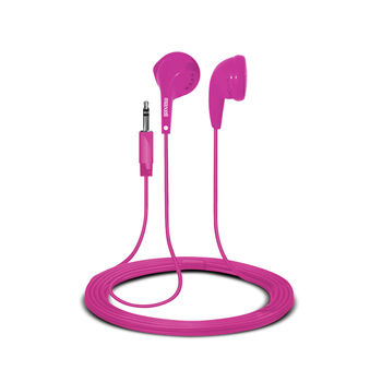 "MAXELL ""EB95"" Pink, Earphones with in-line Microphone, Hands free calling features, Flat cable, Cord type cable 1.2 m"