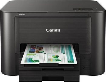 Printer Canon MAXIFY IB4140, Colour Print,Net,Wi-Fi+Cloud Link, ADF(50-sheet), A4, Print 600x1200dpi_2pl, ESAT 24.0/15.5ipm, 64-275г/м2, Max.30k pages per month,Paper Input: 500sheets, USB 2.0, 4-ink tanks PGI-2400XL BK,C,M,Y