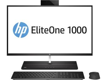 "All-in-One PC - 27"" EliteOne 1000 G2 4K IPS +W10 Pro, Intel® Core® i7-8700 up to 4,6 GHz, 16GB DDR4 RAM, 256GB SSD, no ODD, CR, Intel® UHD 630 Graphics, IR + 2Mp cam, Wi-Fi/BT5, GigaLAN, 180W PSU, Win10 Pro, Wireless KB/MS, Silver/Black"