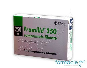 купить Фромилид, табл. в оболочке 250 мг N14 в Кишинёве