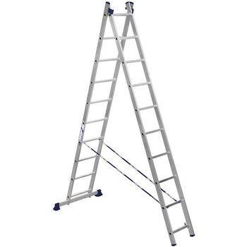 купить Двухсторонняя лестница из алюминия VHR HK 2x12, 2.9/5,33 mm в Кишинёве