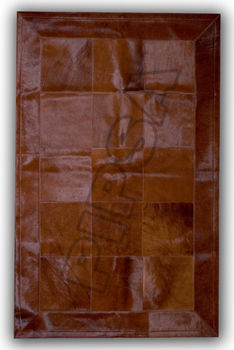 Ковер из натуральной кожи D9BR/3B, шоколадный