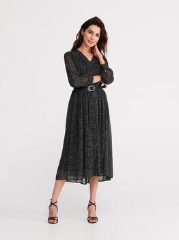 Платье RESERVED Черный в крапинку yb050-mlc