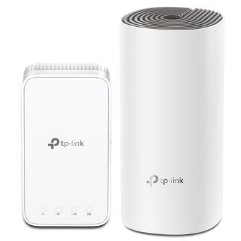 TP-LINK Deco E3(2-pack)  AC1200 Whole-Home Wi-Fi Unit, 867Mbps on 5GHz +  300Mbps on 2.4GHz, 802.11ac/b/g/n, 2 Lan Port, Adaptive Routing Technology, Antivirus, Parental Controls, Quality of Service,
