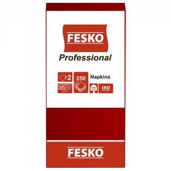 Салфетки сервировочные Fesko Professional, 2 слоя, 250 листов (красная).