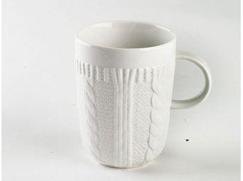 купить Чашка фарфоровая Pullover 320ml, белая в Кишинёве