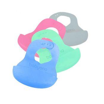 купить BabyOno слюнявчик мягкий силиконовый  с регулируемой застёжкой в Кишинёве