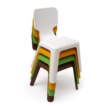 купить Детский пластиковый стул, 420x400x330 мм, зеленый в Кишинёве