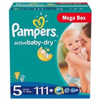 купить Pampers подгузники Mega Box 5 11-18 кг, 111 шт в Кишинёве