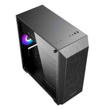 купить Case ATX GAMEMAX Nova N5, w/o PSU, 1x120mm, FRGB LED fan, ARGB LED strip, TG, USB 3.1, Black в Кишинёве
