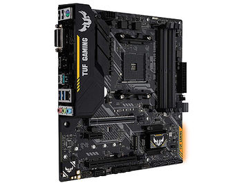 Материнская плата ASUS TUF B450M-PLUS GAMING AMD B450, AM4, Dual DDR4 3200MHz, 2xPCI-E 3.0/2.0 x16, HDMI/DVD-D, AMD CrossFireX, USB 3.1, USB Type-C, SATA RAID 6Gb/s, M.2 x4 Socket, SB 8-Ch., GigabitLAN, LED lighting, (placa de baza/материнская плата)