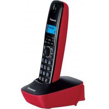 Telephone Dect Panasonic KX-TG1611UAR, Red, AOH, Caller ID (журнал на 50 вызовов), телефонный справочник (50 записей), русскоязычное меню, 12 мелодий звонка, подсветка дисплея, до 15 часов в режиме разговора, до 170 часов в режиме ожид