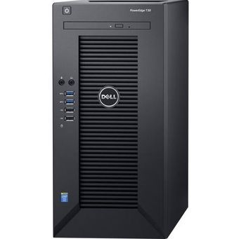 Dell PowerEdge T30 Tower, lntel Xeon E3-1225 (3.3GHz, 8M Cache, 4C/4T, Turbo, 80W), 8GB UDIMM DDR4 RAM, 1 TB SATA HDD, DVD-RW, TPM, Single PSU 290W, 3 Year Warranty