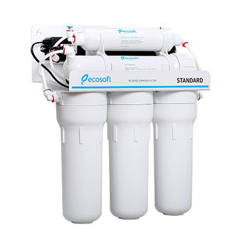 Фильтр обратного осмоса Ecosoft Standart с минерализатором и насосом