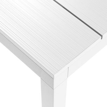 Стол металлический раздвижной Nardi RIO ALU 210 EXTENSIBLE vern. bianco vern. bianco 48853.00.000 (Стол металлический раздвижной для сада и террасы)