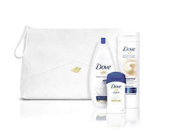 Подарок DOVE WOMEN WOMEN ORIGINAL (гель для душа 250 мл + лосьон для тела 250 мл + стик 40 мл) + бесплатная сумка