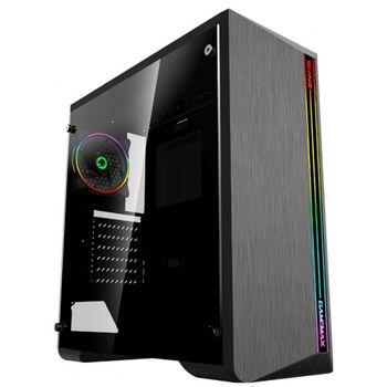купить Case ATX GAMEMAX Shine, w/o PSU, 1x120mm ARGB fan. ARGB Strip, TG, Dust Filter, USB 3.0, Black в Кишинёве