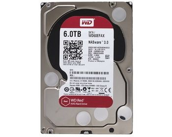 3.5'' HDD 6.0TB  Western Digital WD60EFAX Caviar® Red™ NAS, IntelliPower, 256MB, SATAIII