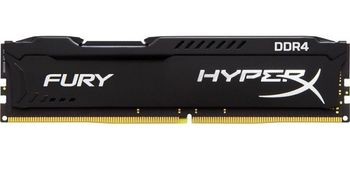 16GB DDR4-3200  Kingston HyperX® FURY DDR4, PC25600, CL18, 1.2V, Auto-overclocking, Asymmetric BLACK heat spreader, Intel XMP Ready  (Extreme Memory Profiles)