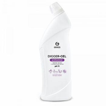 Digger-gel Professional - Средство щелочное для прочистки канализационных труб 1000 мл