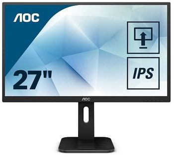 "27.0"" AOC IPS LED 27P1 Black (5ms, 80M:1, 250cd, 1920x1080, Display Port, HDMI, DVI, DisplayPort, Headphone out, Speakers, PIVOT,USB 3.0 x 4, VESA)"