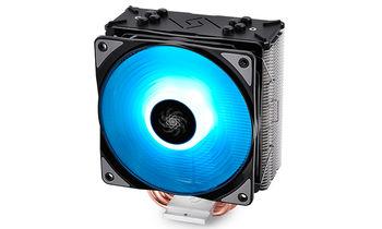 """DEEPCOOL Cooler  """"GAMMAXX GTE"""", Socket 115x/20xx & AM4/FM2/AM3, up to 150W, 120mm RGB fan, 500~1500rpm, 17.8~27dBA, 56.5CFM, 4 pin, PWM, Hydro Bearing, 4 heatpipes"""